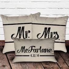 mr and mrs pillows mr mrs pillow set with personalized monogram pillow project
