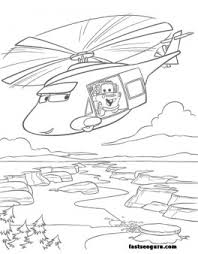 helicopters tow mater coloring kids free
