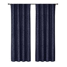 Blue Curtains Cotton Rod Pocket Curtains U0026 Drapes Window Treatments The