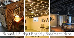 Ideas For Finishing Basement Walls Enjoyable Design Finished Basement Ideas On A Budget 20 Friendly
