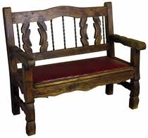 Rustic Bench Seat Rustic Painted Benches From Mexico