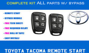 remote start toyota tacoma toyota tacoma remote start kit 2011 2012 2013 2014 complete
