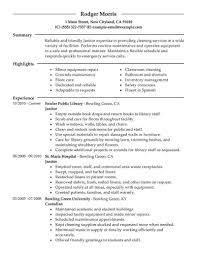 Custodian Resume Skills 100 Free Job Resume Examples Marvellous Graphic Design