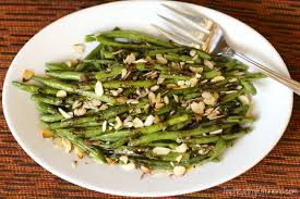 roasted green beans with balsamic browned butter