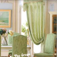 jacquard leaf green curtains country style 2016 new arrival no