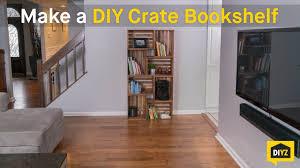 Crate Bookcase Make A Diy Crate Bookshelf Youtube