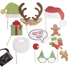 christmas photo booth props christmas photo booth party props kit co uk