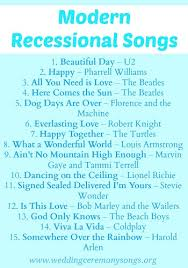 songs played at weddings recessional songs wedding ceremony songs
