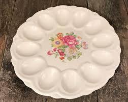 easter deviled egg plate deviled egg platter etsy