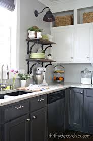 ebony wood natural amesbury door 2 tone kitchen cabinets