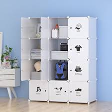 White Wardrobe Cabinet Amazon Com Unicoo Multi Use Diy Plastic 12 Cube Organizer Toy