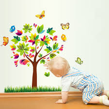 Aliexpresscom  Buy Latest Cm Colorful Tree Birds Butterfly - Butterfly kids room