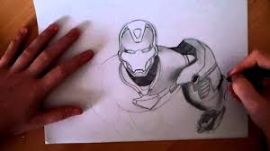 awesome drawings iron man speed drawing youtube
