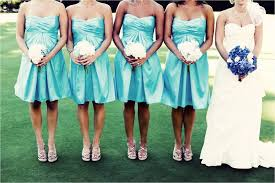 strapless bridesmaids dresses and white bridesmaid bouquets