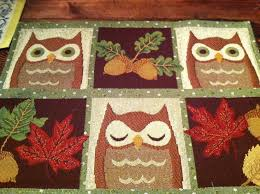 Owl Kitchen Rugs 56 Best Mug Rug Owl Images On Pinterest Owls Owl And Mug Rugs