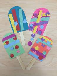 popsicle summer craft for preschoolers kindergarten or