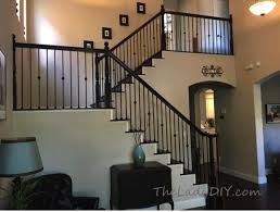 Replacing A Banister And Spindles How To Install Wrought Iron Spindles The Lady Diy