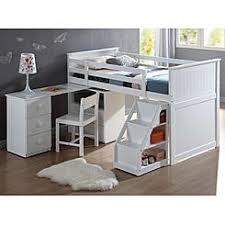 Bunk Bed Desk Wood Loft Bed With Desk
