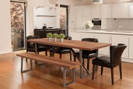 contemporary industrial style walnut large dining table u0026 two