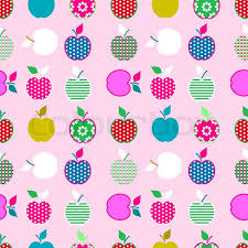 kids wrapping paper baby and kids pattern with apples vector background