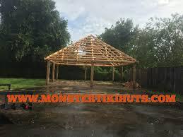 30x30 custom backyard tiki hut construction project in apopka
