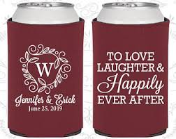 koozie wedding favor wedding koozies etsy