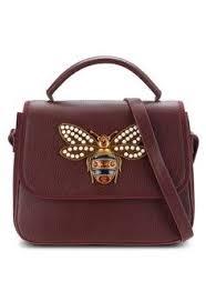 Zalora Tas Famo wanita tas sling bag pearled bug top handle bag zalora