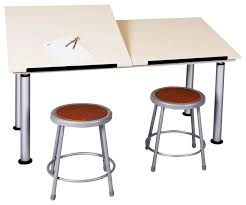 Contemporary Drafting Table Adaptable Double Station Drawing Table Contemporary Drafting