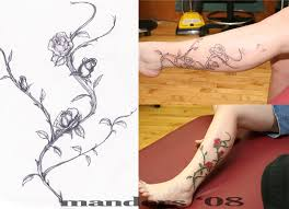 three steps make rose vine tattoo tattoomagz