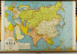 Ua Map Lot 490 Oak Map Case W Six Large Maps C 1920