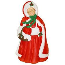 lighted plastic christmas yard decorations mrs santa claus christmas light up blow mold plastic lighted 40