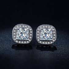 square cut diamond earrings online square cut diamond earrings