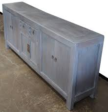 large sideboard buffet credenza cabinet tv console blue grey