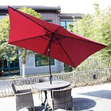 Patio Half Umbrella by Rectangular Outdoor Table Umbrella Awning Led Solar Powered