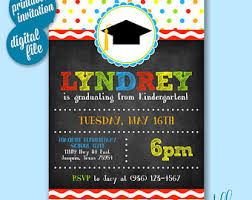 kindergarten graduation invitations kindergarten graduation invitation etsy