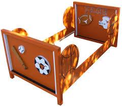 toddler bed frame sports theme baseball football basketball