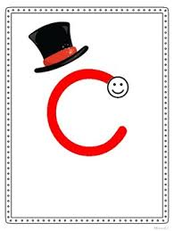 magic c letter posters handwriting without tears style by middle