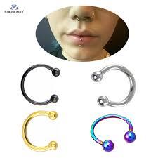 nose rings ball images 2pcs lot cute ball nose ring goth earrings septum nose rings fake jpg