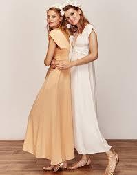 robe de mariã e sur mesure pas cher robe de mariée longue moderne bohème et simple longue taille