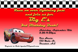 car u0027s birthday party invitation a disney mom u0027s thoughts