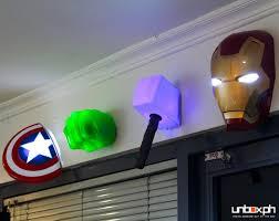 3d deco superhero wall lights avengers initiative 3d deco light iron man hulk cap and thor