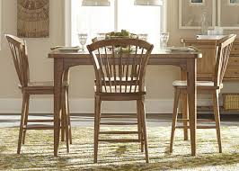 liberty furniture candler 5pc gathering dining set in nutmeg by