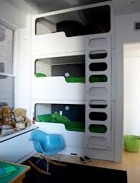 Triple Bunk Beds - Three bunk bed