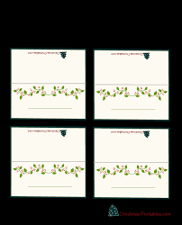 printable name place cards free printable christmas place cards