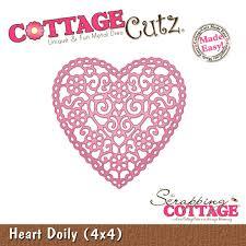 heart doily cottagecutz heart doily 4x4