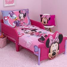 Minnie Mouse Bowtique Curtains Disney Minnie Mouse Hearts And Bows 4 Piece Toddler Bedding Set