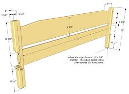 easy to build king size bed plan