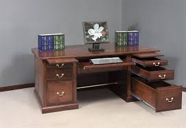 Executive Desk Solid Wood Solid Wood Desk In Stylish Design Home Painting Ideas