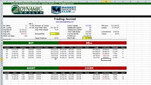 Options Trading Journal Spreadsheet by Management Calculator And Trading Journal Part 2