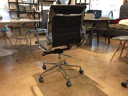 premier eames style ribbed leather management executive office